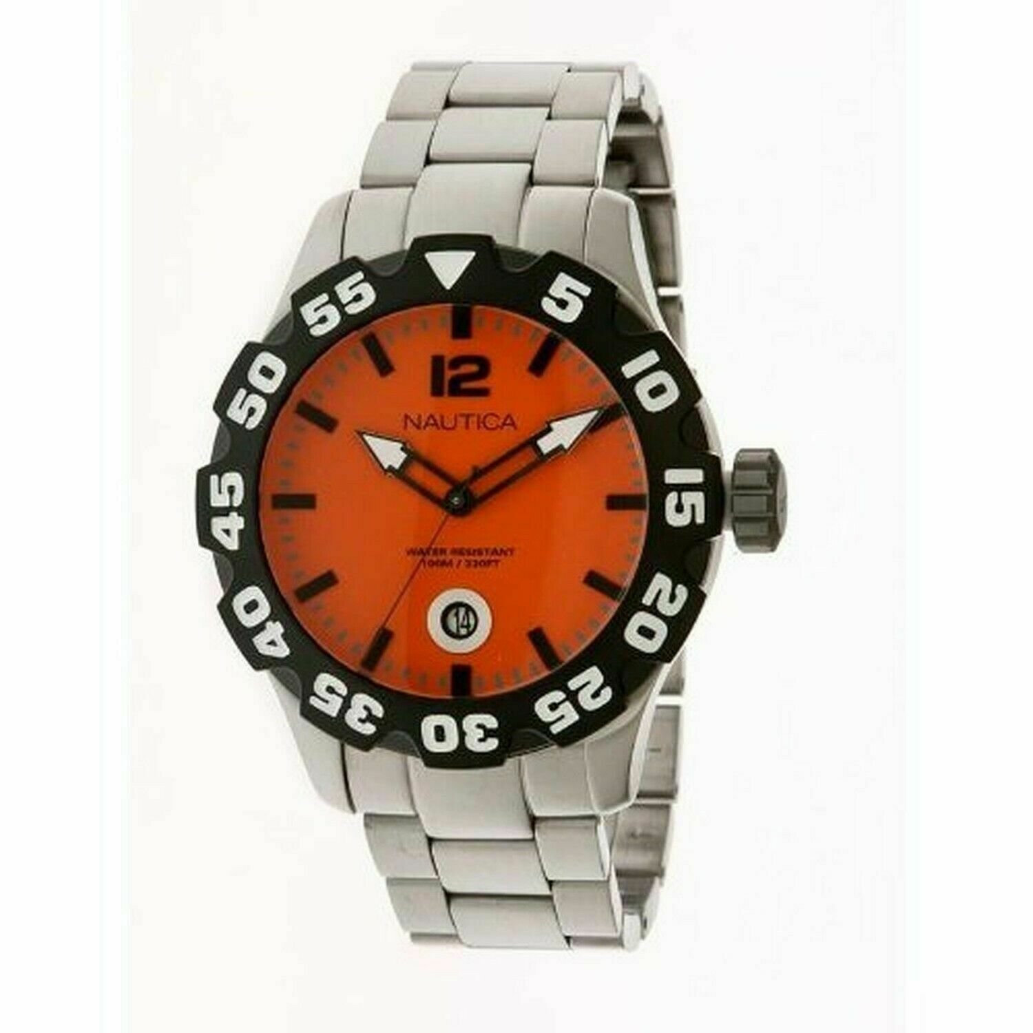 Nautica BFD 100 Stainless Steel Men's watch #N18623G SHIPSFREE