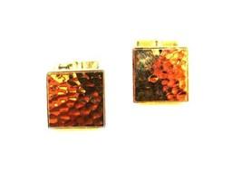 Fabuloso Color Dorado Repujada Gemelos por Swank 12215 - $67.30