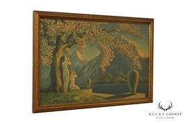 Henri G. Reynard 'Loves Echo' 1920's Art Deco Framed Art Print - $465.00