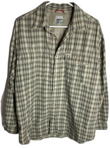 Columbia Sportswear Titanium Men's Button Down Long Sleeve Shirt Green P... - $19.75