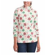 Time and Tru Turtleneck Snowflakes Winter Top Shirt - $10.99