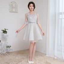 Gray color Size US2-US8 Women clothing sexy gown party sisters short Bri... - $53.04