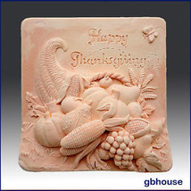 egbhouse, 2D, Soap and Candle Mold, Plaster mold, polymer clay mold,Than... - $23.56