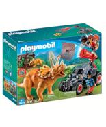 Playmobil 9434 The Explorers Enemy Quad-Triceratops Projectile Net Cannon 59 PCS - $19.79