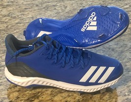 Adidas Men's Baseball Icon Bounce Metal Cleats Sz 9.5 Royal Blue CG5243 #adidas - $28.59