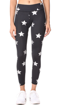 Terez Women's Tall Band Foil Print Performance Leggings, Foil Silver Stars