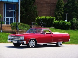 1965 Chevrolet El Camino red 24X36 inch poster, sports car, muscle car - $18.99