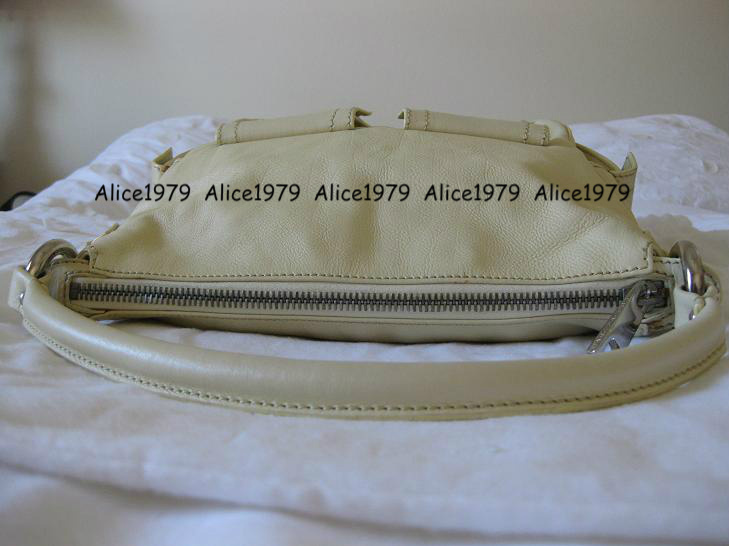 Used Authentic MARC JACOBS Tapioca Soft Calf Multipocket Hobo with Silver HW