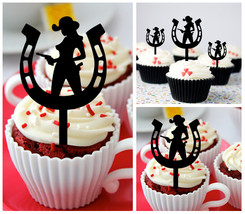 Decorations Wedding,Birthday Cupcake topper, sexy cowgirl horseshoe : 10 pcs - $10.00