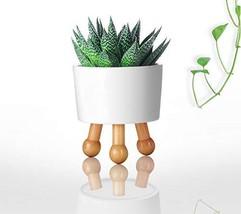 "TechLeo White Environment-Friendly Ceramic Flower Pot 4"" with 3 Legs - $15.03"