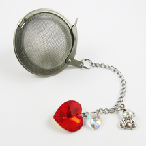 Rouge bear and crystal  tea infuser - $14.00