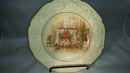 "Crown Ducal Sam Weller Composes His Valentine 10"" Plate Florentine Dickens  - $18.37"