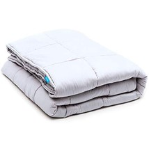 LUNA Weighted Blanket 15 lbs, 60x80, Adult | 100% Organic Cooling Cotton... - $131.01