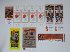 Lot of 10 Cleveland Browns Ticket Stubs NFL Football Home Opening Night ... - $35.59