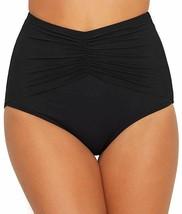 Coco Reef BLACK Classic Solid Diva High-Waist Bikini Swim Bottom, US Large - $25.74