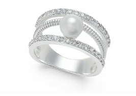 Charter Club Crystal Imitation Pearl Ring, 5 - $9.89