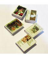 Books Victorian Color Set #3 NI200 A Novel Idea 5 Vols. DOLLHOUSE Miniature - $11.70