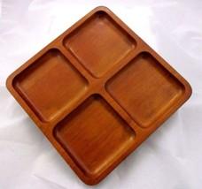 Tutta Casa Tuttacasa Serving Platter Solid Wood Valet 4 Compartment EUC - ₨1,363.70 INR