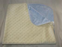 Kidcosmic Kid Cosmic Baby Boy Blue Yellow Reversible Minky Dot Blanket - $44.54