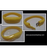 16GB USB 2.0 Memory Stick Flash Pen Drive Yellow Wristband Bracelet - $10.50