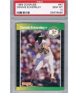 1989 Donruss #67 Dennis Eckersley PSA 10 GEM MINT Athletics - $14.80