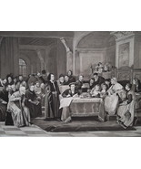 COLUMBUS Signing Deal with King Ferdinand & Isabella - 1888 Fine Antique... - $21.60