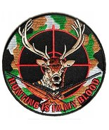 Deer Hunter Embroidered Iron-On Patch - 4x4 inch - $886.05