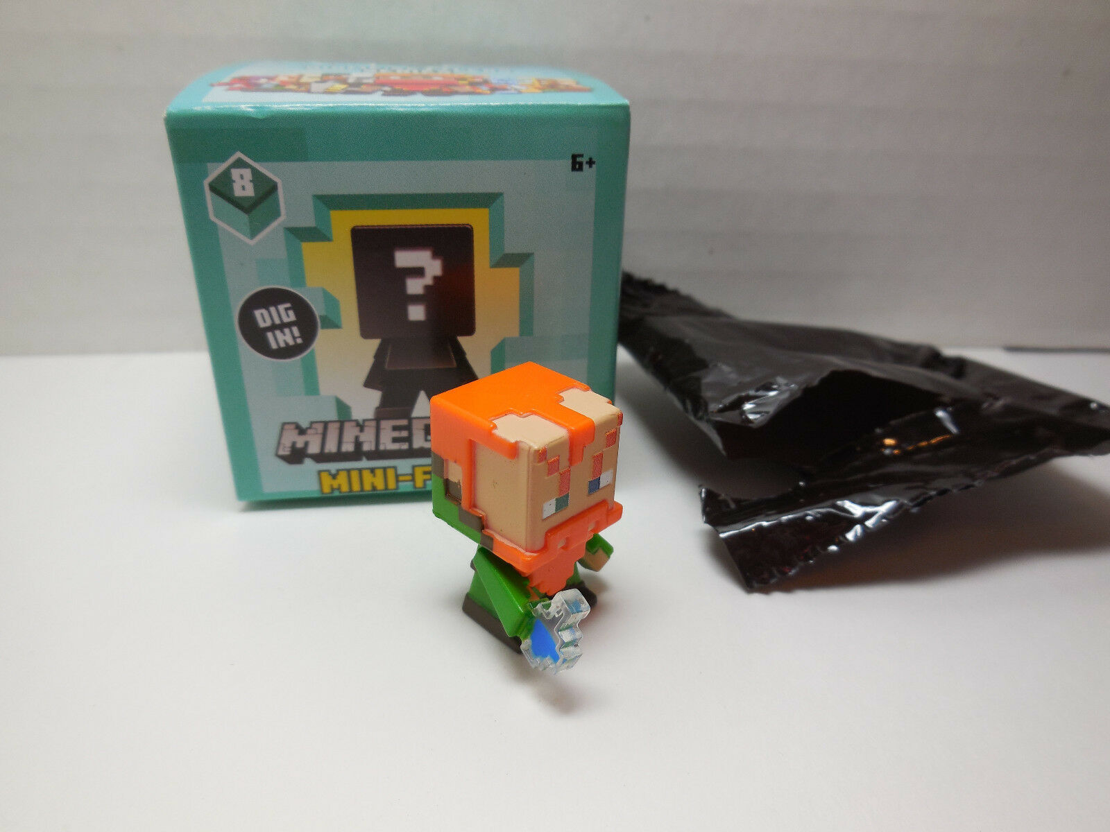 """Minecraft Series 8 Biome Settlers 1.5"""" Forest Brewer Figure New w/ Box 2017"""