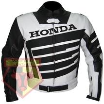 HONDA 9019 BLACK MOTORBIKE ARMOURED COWHIDE LEATHER MOTORCYCLE BIKERS JA... - $194.99