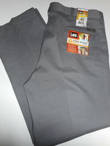 NWT LEE JEANS 38 x 30 RELAXED Stain Resist Straight Pleated Front Gray P... - $16.99