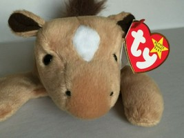"""TY BEANIE BABY-""""DERBY""""FLUFFY MANE HORSE- RARE-RETIRED-/TAG ERRORS-MINT C... - $495.00"""