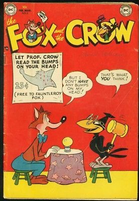 THE FOX AND THE CROW #2 1952-DC COMICS RARE KEY ISSUE VG+
