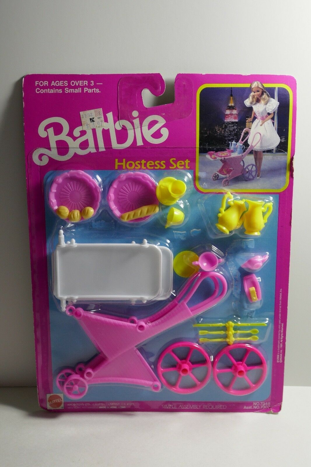 Primary image for Mattel 1989 Barbie Hostess Set Tea Cart & Accessories