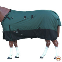 "74"" Hilason 1200D Ripstop Waterproof Turnout Winter Horse Blanket Green U-2-74 - $84.99"