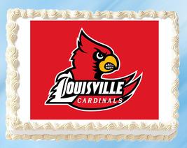 Louisville Cardinals Edible Image Topper Cupcake Cake Frosting 1/4 Sheet 8.5 x 1 - $11.75