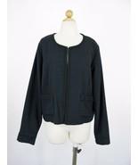 Blazer Jacket Melissa Masse Woven Silk Navy Blue Box Blazer NEW XL NWT $450 - $37.62