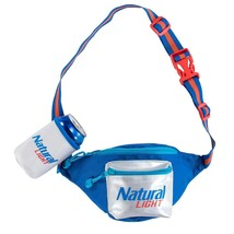 Natural Light Fanny Pack With Beer Holster Blue - $26.98