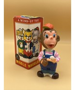 Vintage Alps Wiggles Waggles Monkey A Wind-Up Toy w/ Original Box Made i... - $22.28
