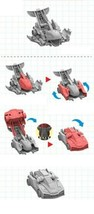Pasha Mecard Bumko Mecardimal turning Car Transformation Toy Action Figure image 2