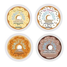 Donut Shop K-cup Coffee Pods Variety Pack – Set of 4 Flavors | Coconut Mocha + N