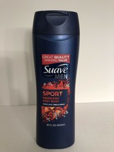 Suave Men Sport Energizing Body Wash Rich Lather Rinses Clean 15 oz. - $9.49