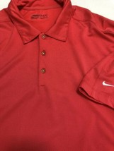 Nike Golf Fit Dry Men Polo Shirt Short Sleeve Salmon Polyester Blend Stretch XL - $13.96