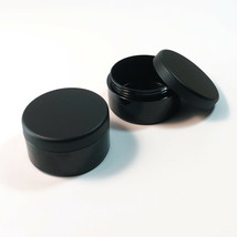 50 Cosmetic Jars Plastic Beauty Containers 30 Gram Ml Matte Black Lids #... - $107.95