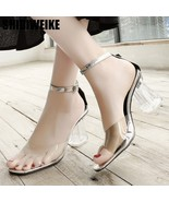 2019 summer Jelly Sandals Open Toed High Heels Women Transparent Cover H... - $34.57