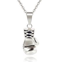 Ocean 3 Colors Men Mini Boxing Glove Necklace Pendant Gold Silver Black ... - $6.09