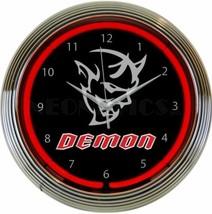 New Dodge Demon red neon clock Challenger Fast Free Ship Warranty - $88.77