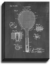 Tennis Racket Patent Print Chalkboard on Canvas - $39.95+