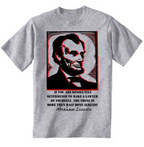Abraham Lincoln Half Done Quote - New Cotton Grey Grey Tshirt - $23.21