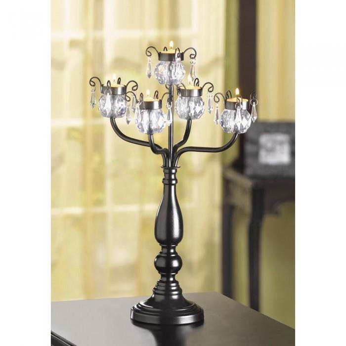 20 Crystal Tree Candelabra Black Candleholder Wedding Centerpieces image 4