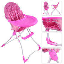 NEW! Baby HighChair Girl Feeding Booster Seat Folding Safety - $63.21